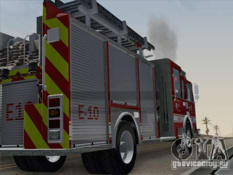 Pierce Saber LAFD Engine 10 для GTA San Andreas вид справа