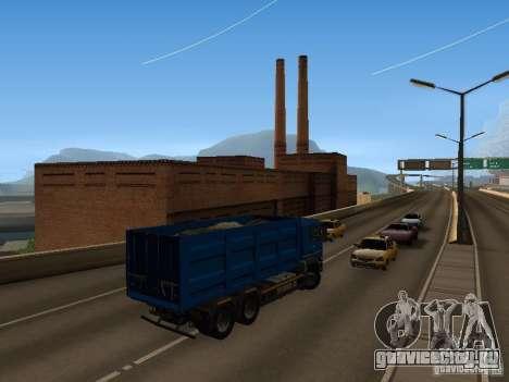 MAN TGA 28 430 PALIFT для GTA San Andreas вид изнутри