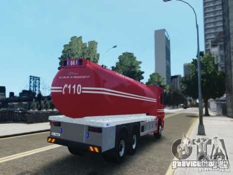 Mercedes-Benz Vanntankbil / Water Tanker для GTA 4 вид сзади слева