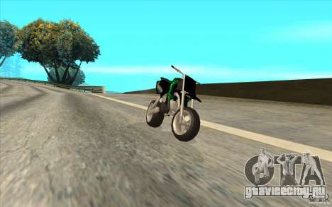 Black Rockstar Moto Cross для GTA San Andreas