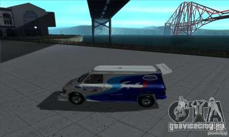 Ford Transit Supervan 3 2004 для GTA San Andreas вид сзади слева