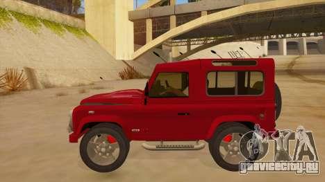 Land Rover Defender для GTA San Andreas вид слева