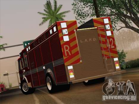 Pierce Contender LAFD Rescue 42 для GTA San Andreas вид изнутри