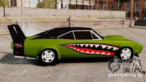 Dodge Charger RT SharkWide для GTA 4 вид слева