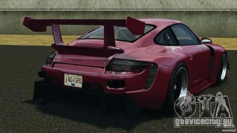 Porsche 997 GT2 Body Kit 2 для GTA 4 вид сзади слева