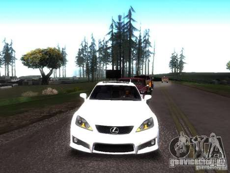 Lexus IS F для GTA San Andreas вид сзади слева