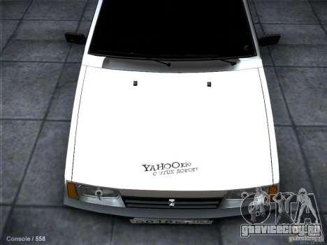 ВАЗ 2109 Ростов для GTA San Andreas вид изнутри