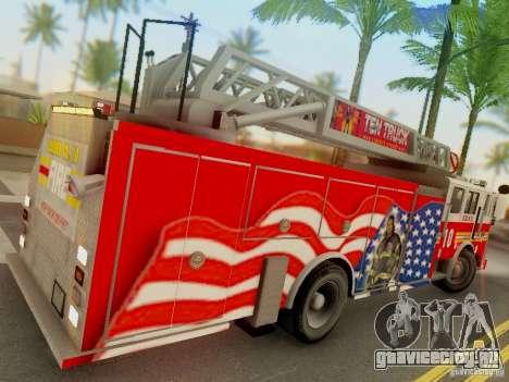 Seagrave FDNY Ladder 10 для GTA San Andreas вид справа