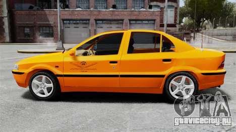 Iran Khodro Samand LX Taxi для GTA 4 вид слева