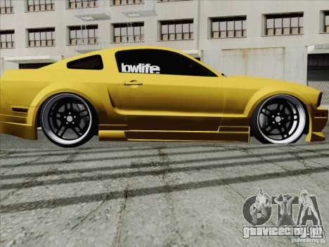 Ford Mustang GT Lowlife для GTA San Andreas вид справа