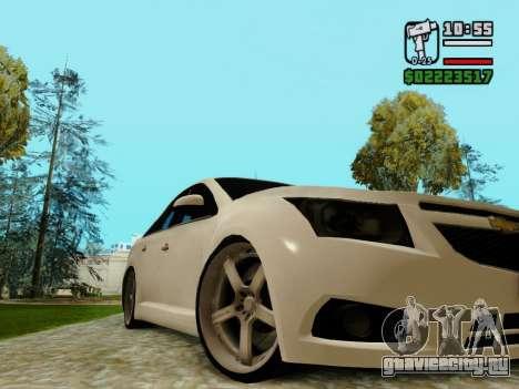 Chevrolet Cruze для GTA San Andreas вид изнутри