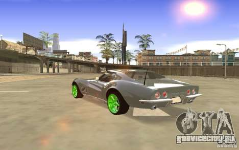 Chevrolet Corvette Stingray Monster Energy для GTA San Andreas вид изнутри