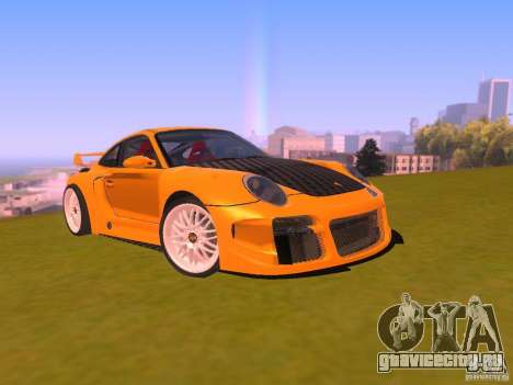 Porsche 911 Turbo Tuning для GTA San Andreas вид сзади