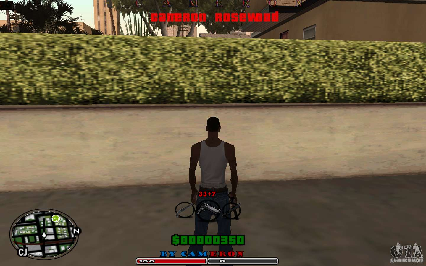 CLEO скрипты для GTA San Andreas - Cleo HUD by Cameron Rosewood V1.0