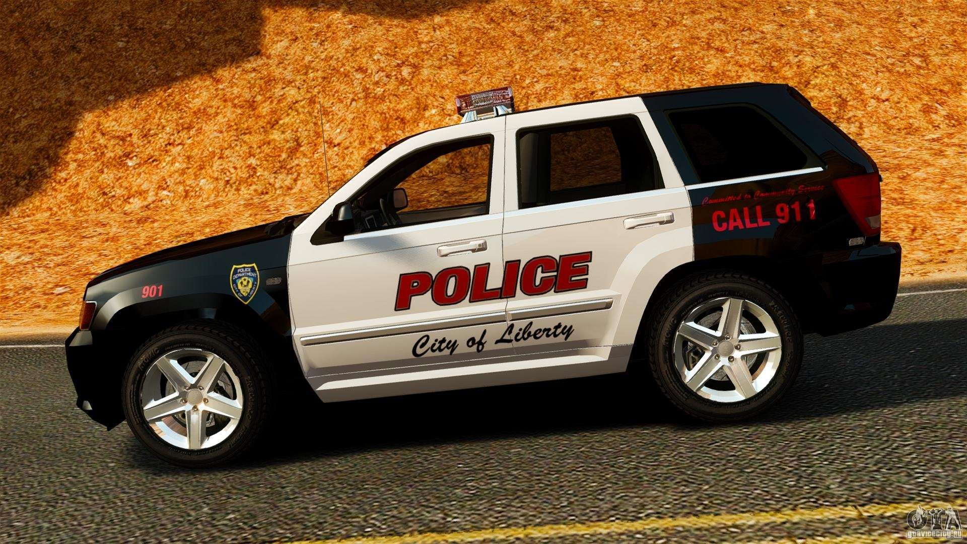 Jeep Grand Cherokee SRT8 2008 Police [ELS] для GTA 4