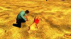 Спасение человека на пляже для GTA San Andreas