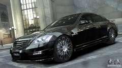 Mercedes-Benz S-Class W221 Black Bison 2009 Black Edition для GTA 4