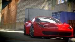 Ferrari 458 Italia 2010 Autovista для GTA 4