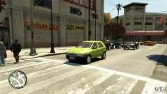 Fiat Palio серебристый для GTA 4