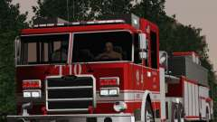 Pierce Arrow XT LAFD Tiller Ladder Truck 10