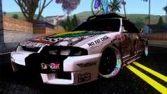 Nissan GT-R R33 HellaFlush для GTA San Andreas