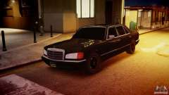 Mercedes-Benz 560 SEL Black Edition для GTA 4