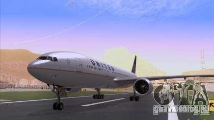 Boeing 777-200 United Airlines для GTA San Andreas