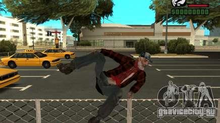 Скин бомжа в пиджаке для GTA San Andreas