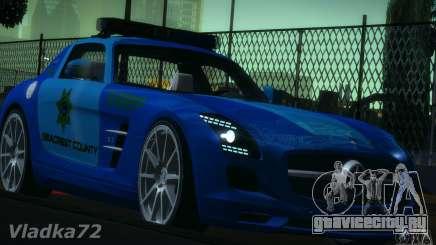 Mercedes-Benz SLS AMG Blue SCPD для GTA San Andreas