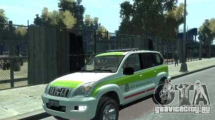 Toyota Land Cruiser Prado Police для GTA 4