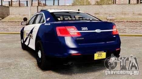 Ford Taurus Police Interceptor 2013 LCPD [ELS] для GTA 4 вид сзади слева