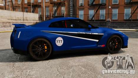 Nissan GT-R 2012 Black Edition AMS Alpha 12 для GTA 4 вид слева