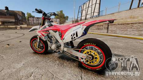 Honda CRF 450 Turbo Motard для GTA 4 вид слева