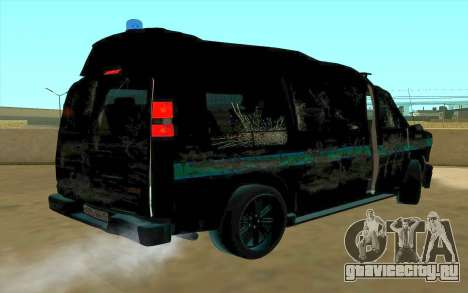 GMC Savana AWD ФСБ для GTA San Andreas вид изнутри