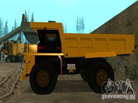 Новый Dumper для GTA San Andreas вид сзади