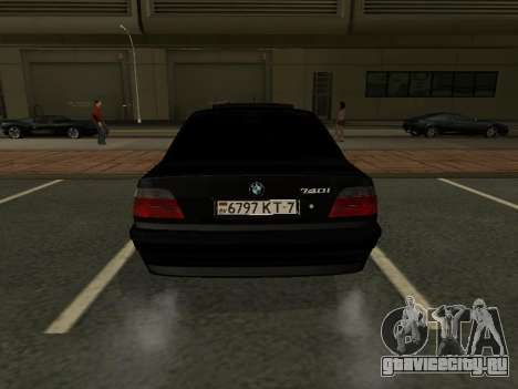 BMW 740I для GTA San Andreas вид справа