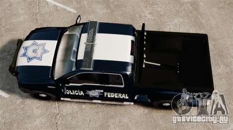 Ford F-150 De La Policia Federal [ELS & EPM] v1 для GTA 4 вид справа