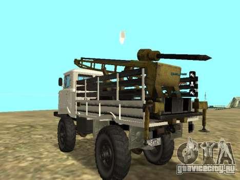 Газ 66 Буровая для GTA San Andreas вид сзади слева