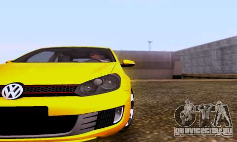 Volkswagen Golf 6 GTI для GTA San Andreas вид сзади слева