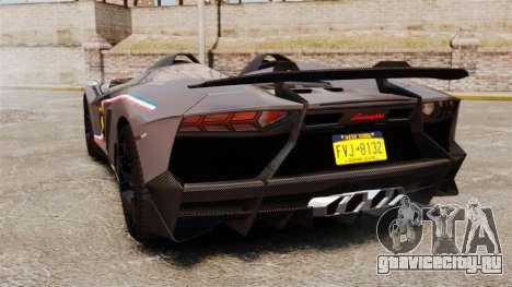 Lamborghini Aventador J Big Lambo для GTA 4 вид сзади слева