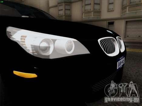 BMW M5 Hamann для GTA San Andreas вид изнутри