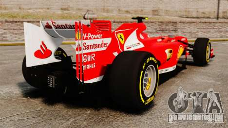 Ferrari F138 2013 v5 для GTA 4 вид сзади слева