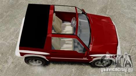 Suzuki Vitara JLX для GTA 4 вид справа