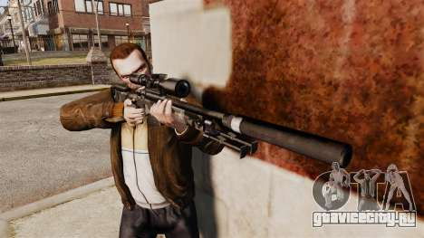 Снайперская винтовка AW L115A1 с глушителем v5 для GTA 4 третий скриншот