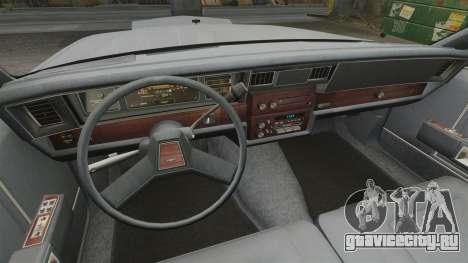 Chevrolet Caprice 1989 для GTA 4 вид сзади
