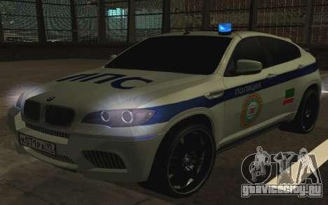 BMW X6 M с мигалками ППС для GTA San Andreas