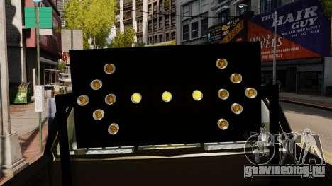 Ford F-150 v3.3 NYPD [ELS & EPM] v3 для GTA 4 вид сзади