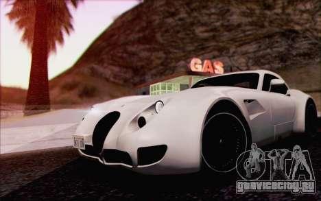 Wiesmann GT MF5 2010 для GTA San Andreas вид снизу