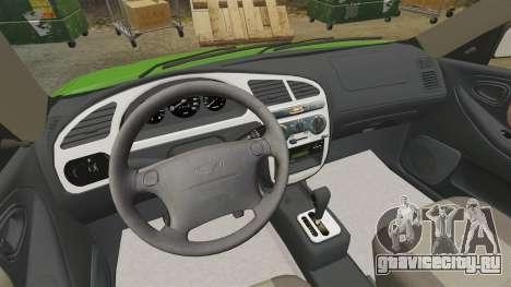 Daewoo Lanos FL 2001 US для GTA 4 вид изнутри
