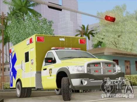 Dodge Ram Ambulance BCFD Paramedic 100 для GTA San Andreas колёса